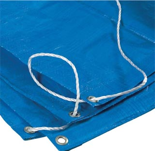 tarpaulin and rope
