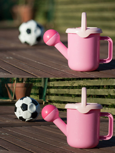The top picture was taken at F1.8 and the bottom at F16.  The top picture is obviously of a watering can but the lower picture the football becomes very distracting.