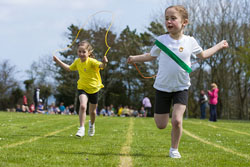 This one is of my girls, Grace and Ella, taking part in a skipping race and the shutter speed was set to 1/1000th of a second and as you can see the skipping rope is captured very clearly.