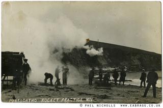 E A Bragg, Rocket Practice, Portscatho C.1911