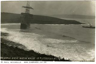 e a bragg, the gustav ashore at porthcurnick 1912