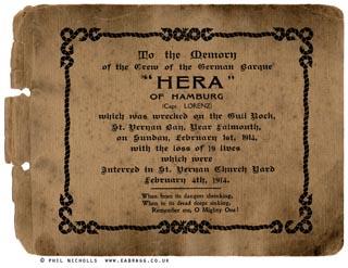 ea bragg, hera shipwreck, booklet detail 1914