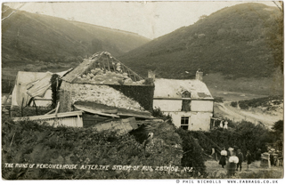 ea bragg, pendower house, storm damage, 1908, © phil nicholls
