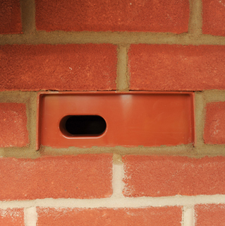 Copyright 2016 Mike Sewell (tel: 07966417114) Photograph by Mikey Sewell. The first swift bird box is installed at the Barratt Homes Kingsbrook development in Aylesbury, Buckinghamshire. Pictured is the installed box.