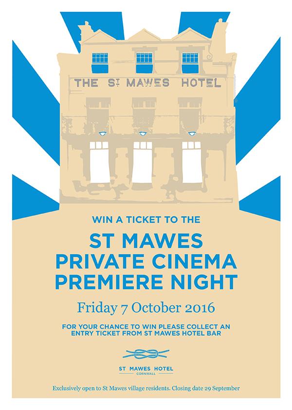St Mawes Hotel Cinema Premiere A4