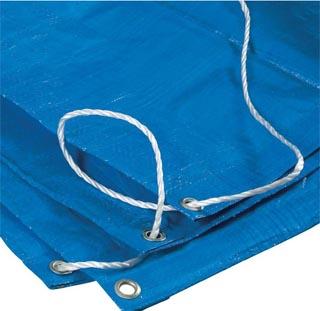 tarpaulin and rope
