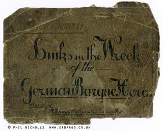 ea bragg, hera shipwreck, booklet cover 1914