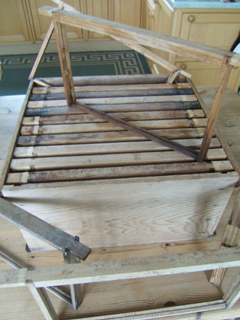 Cleaned and streilised brood box and frames