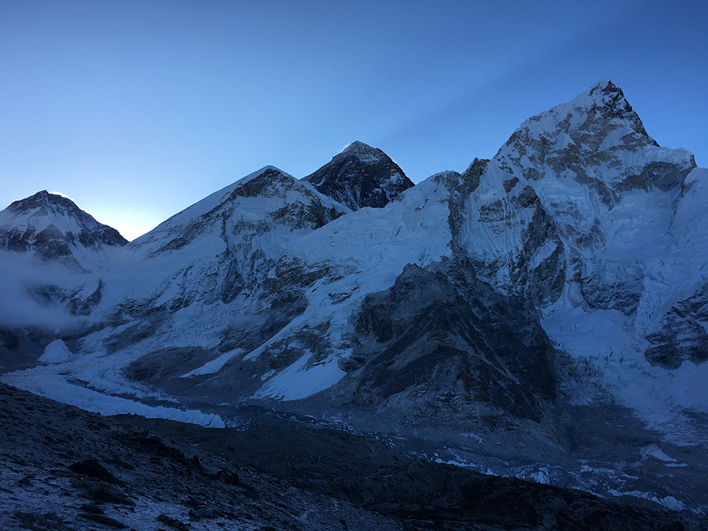 The black coloured peak is Everest